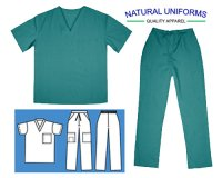 Cargo Pant & Scrub Top Set - Teal