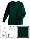 Hunter Green Solid Unisex Warm-Up Jacket