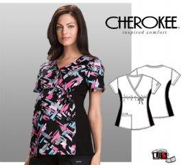 518927e99a5 Cherokee Maternity Printed Wrap Top Plaid-Ittude [2746C-PLTT ...