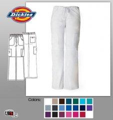 Dickies Scrubs Women/'s Cargo Pant 85100 Turquoise TQWZ Dickies EDS Junior Fit