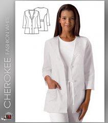 Scrubs Cherokee Womens Three Quarter Sleeve Jacket 1491 Clothing, Shoes & Accessories