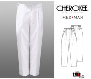 Cherokee Med Man Men's Trouser with Pleated Fly Front