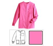 Hot Pink Solid Unisex Warm-Up Jacket