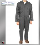 Natural Uniforms Workwear Mens Long Sleeve Blended Work Coverall