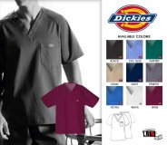 Dickies Original Men's Fit Raglan Sleeve Scrub Top