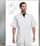 Cherokee Med Man Men's Zip Front Jacket White