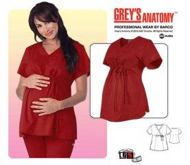 29ce13ceaaf1f Grey's Anatomy Maternity Mock Wrap Solid [6103] - $27.00 : Nurse ...