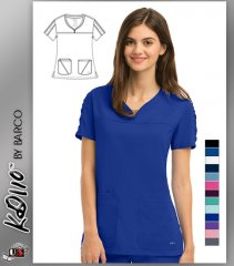 KD110 BY Barco Lexi Shirred Sleeve Scrub Top
