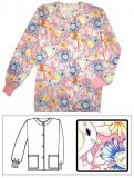 Printed Scrub Jacket
