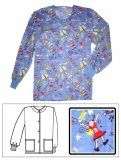 Printed Scrub Jacket - Friends