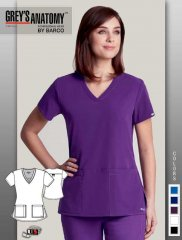 Grey's Anatomy™ Signature Series Women's V-Neck Scrub Top