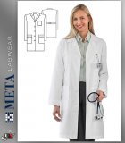 17010 META Labwear Women's Performance 4-Pocket Lab Coat