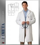 "650 Meta Labwear Men's 38"" Cotton Labcoat"