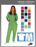 Natural Uniforms Two Piece Scrub Suit - Lime Green