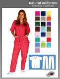 Natural Uniforms Two Piece Scrub Suit - Red