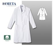 "Meta Labwear Men's 45"" Knot Button Labcoat"