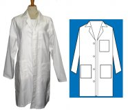 100% Cotton Full Length Lab Coat