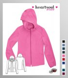 HeartSoul Break On Through In Da Hood Zip Frnt Hoodie Scrub Jckt