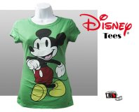 Disney Printed Mickey Comfortable Green Tees