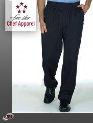 18100-BLACK Five Star Pull-On Chef Pant