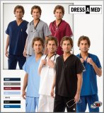 Dress A Med Solid Premium Scrub Set Nursing V-Neck Uniform Set