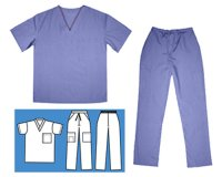 Cargo Pant & Scrub Top Set - Ceil Blue