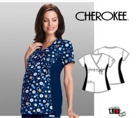 Cherokee Maternity Printed Wrap Top Wonderful