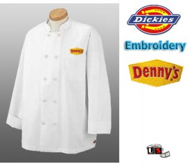 Denny's Embroidered Chef's Uniform