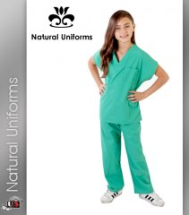 Natural Uniforms Childrens Unisex Solid Scrubs Set - Surgical