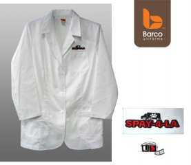 SPAY-4-LA Embroidered Lab Coat