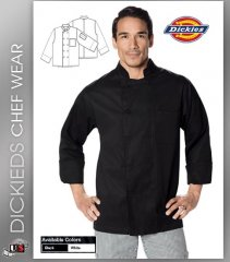 Dickies Chef Unisex Classic 2 Pockets Cloth Covered Button Chef