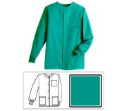 Teal Solid Unisex Warm-Up Jacket