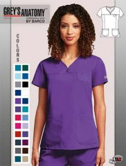 d3a386fa88f Grey's Anatomy™ arclux™ 3 Pocket V-Neck Yoke Scrub Top [41340 ...