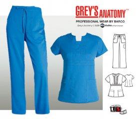 3b1d7073b04b7 Grey's Anatomy™ Scrub Set Blue Topaz [41193-4245] - $55.00 : Nurse ...