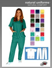 934cb1d1405 Natural Uniforms Two Piece Scrub Suit - Surgical Green [BP101 ...