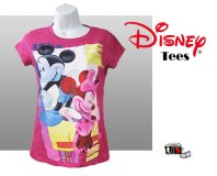 Disney Printed Mickey and Minnie Comfortable Pink Tees