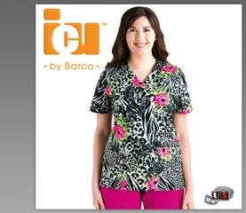 7d557c20132 ICU Barco Uniforms Sylo Women's Detail V-Neck Print Top [71163-SLO ...