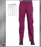 Cherokee Workwear Professionals Mid Rise Straight Leg Pull-on Ca