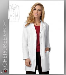 "CHEROKEE Next Generation 33"" with Notched Lapel Lab Coat"