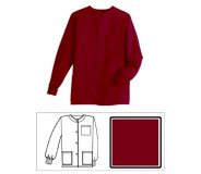 Burgundy Solid Unisex Warm-Up Jacket