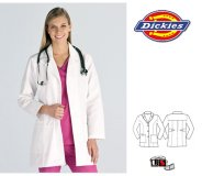 Dickies Lady's Knee Length Lab Coat with Two Front Pockets