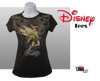 Disney Printed Tinkerbell Comfortable Brown Tees