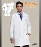 "Barco Prima 37"" Men's 4 Pocket Men's Lab with 4 Patch Pockets"