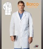"Barco Prima 40"" 4 Pocket Men's Lab Coat with 3 Patch Pockets"