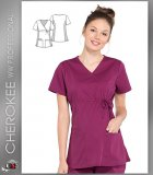 Cherokee Workwear Professionals Maternity Mock Wrap Top
