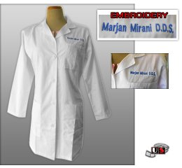 2018 embroidered scrubs hospital 100% cotton medical uniform dental clinic  beauty salon doctor uniform operation