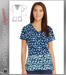 Signature by Grey's Anatomy™ Women's V-Neck Cancun Print Top