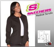 Skechers Womens Two Pocket Medical Warm-Up Jacket