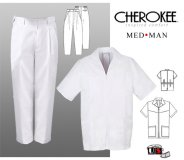 Cherokee Med Man Men's Zip Front Jacket and Pant Set