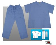 Black Star Elite Unisex V-Neck Cargo Scrub Set Poplin Plus